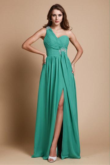 Elegantes Grünes Langes Abendkleider