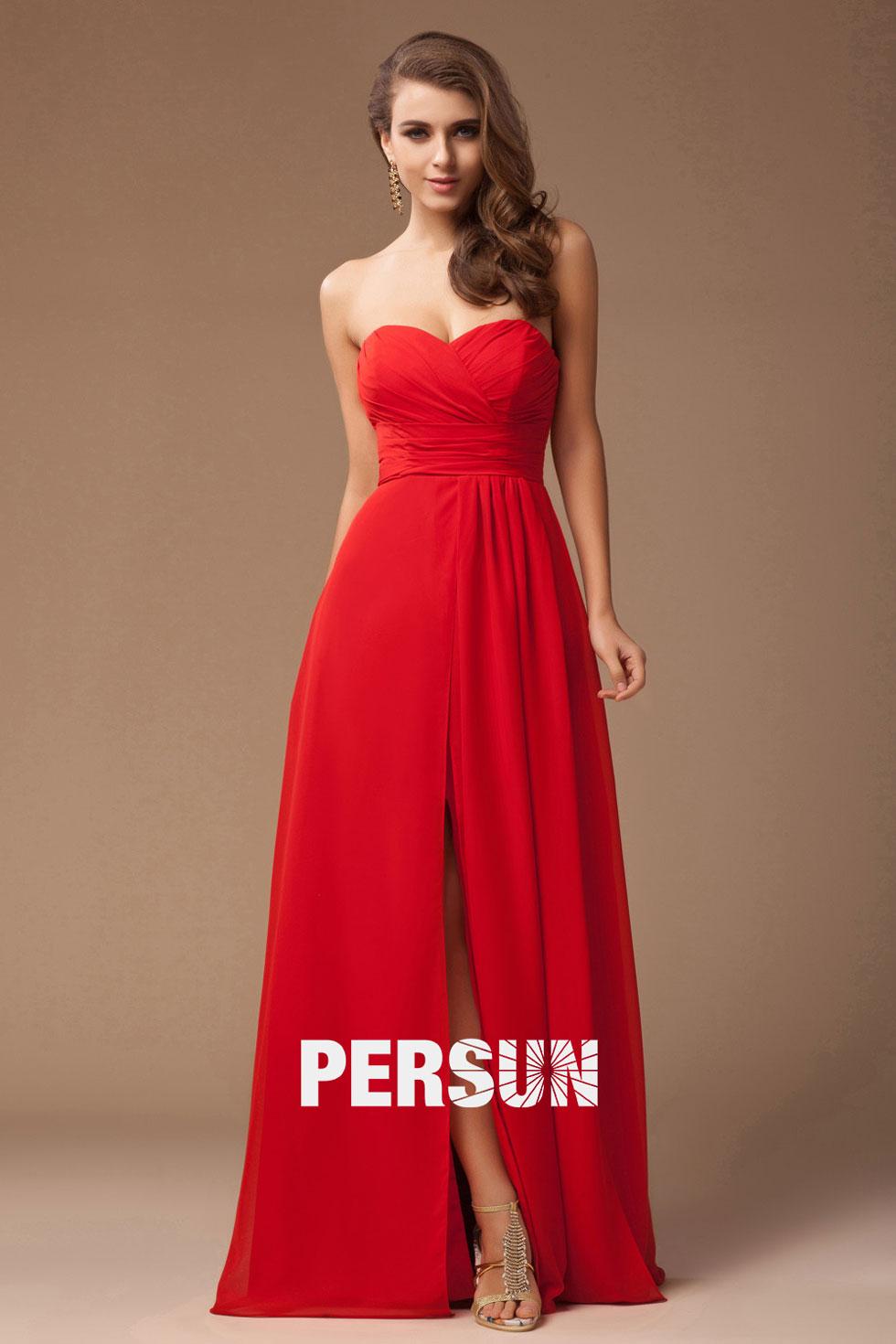 tenue simple rouge pour demoiselle d'honneur