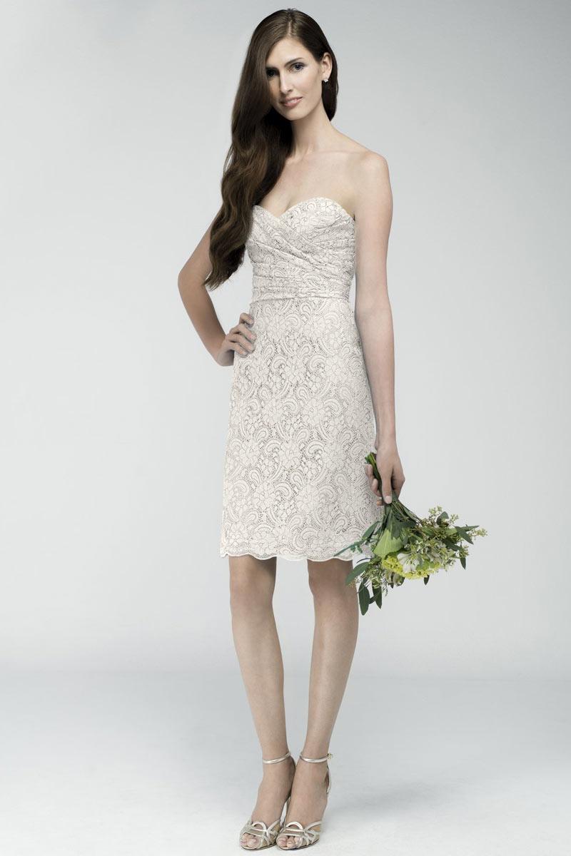 robe genoux dentelle blanc cass pour fian ailles ou cort ge femme. Black Bedroom Furniture Sets. Home Design Ideas