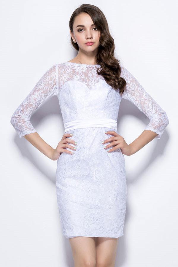d8d1720732d Robe manche courte pour mariage robe corail longue