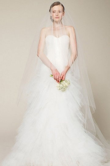 how to pick up a veil for your tulle wedidng dress