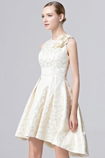 Persun Vintage Brocade Short wedding dress