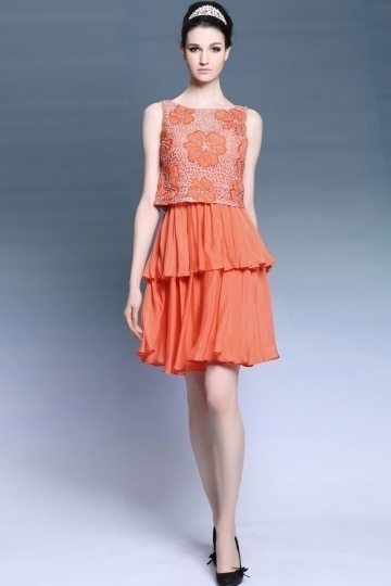 robe-orangee-a-deux-pieces-en-mousseline