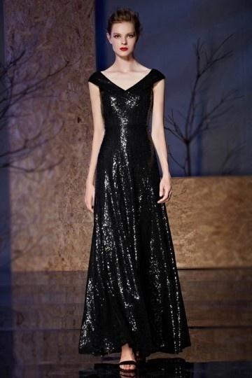 robe de bal longue à paillettes