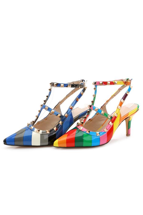 Sandale clou en bloc couleur arc en ciel - Clou tapissier pas cher ...