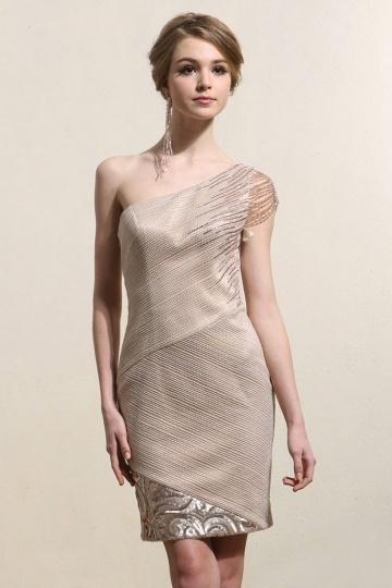 Robe de cocktail de luxe sequins & brillants