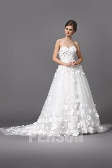 Romantique Robe de mariée princesse à fleurs