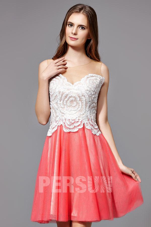 robe-de-bal-soiree-bicolore-bustier-brode-motif-floral