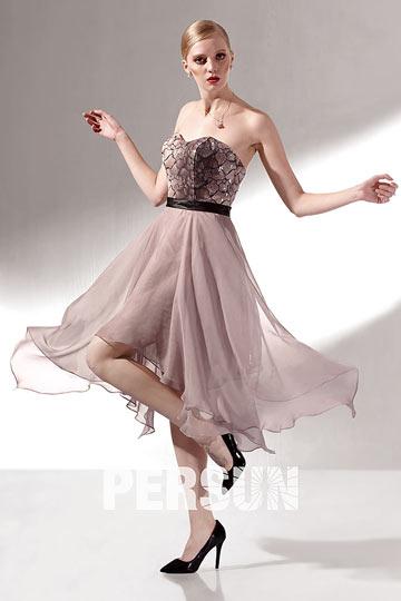 robe de bal courte en tencel bustier coeur jupe. Black Bedroom Furniture Sets. Home Design Ideas