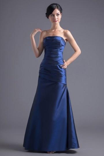 Robe bustier bleu longue