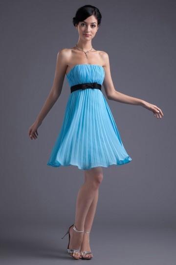 Robe fille d'honneur bleue