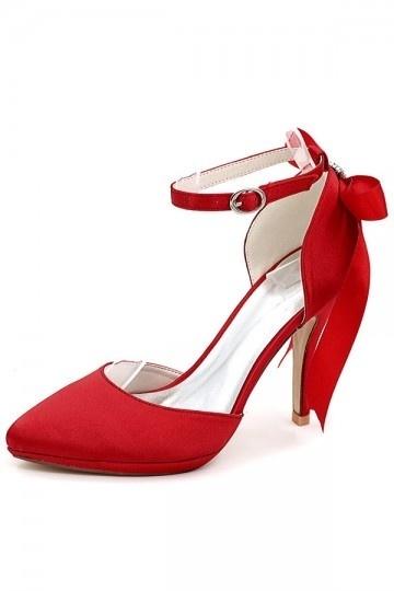Escarpin pour mariage rouge vintage